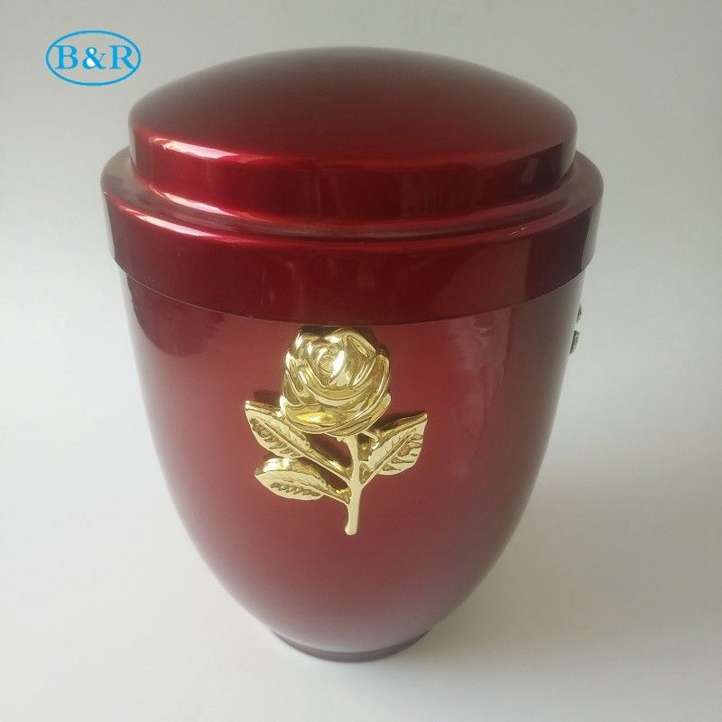 U001 Iron Metal Cremation Urn For Human Ashes Size 26 * 18.5 Cm Customized Shape